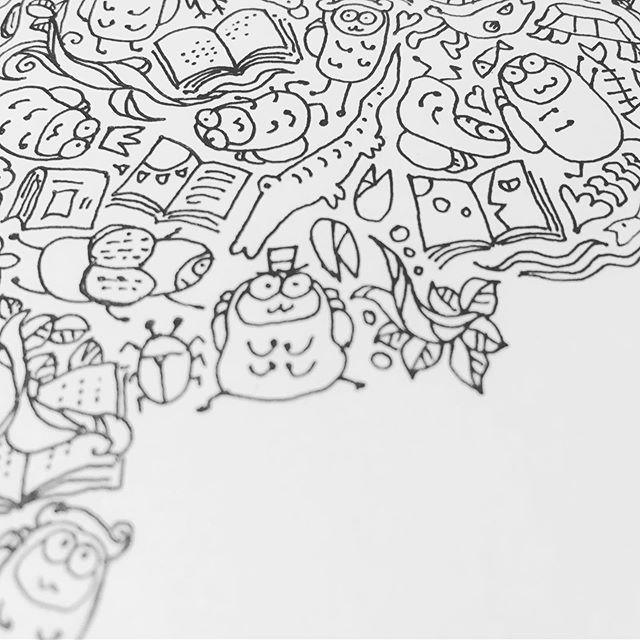 ときどきイラスト#本の虫 #readingbugs #本 #book #bookstagram #ペン画イラスト #ペン画 #イラスト